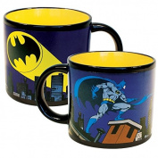 Batman Bat-Signal Heat Changing Coffee Mug - DC Comics Officially Licenced - - Add Hot Water and Batman Comes to the Rescue - Comes in a Fun Gift Box - by The Unemployed Philosophers Guild