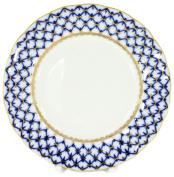 Lomonosov Porcelain Cake Dessert Plate Cobalt Net Plate 18cm Diameter