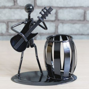 INVESCH Metal Pencil Pen Holder Desk Organiser Decorative Guitar Theme Desktop Supply Organiser