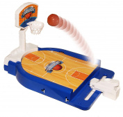 Mini Basketball Table Game - Desktop Arcade Hoops Slap Shot Miniature Game for Ages 5 and Up | Classic Mini Basketball Tournament Table Top Games for Sports Fans and Fanatics