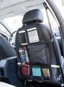 Vinsani Multi Pocket Hanging Car Back Seat Pouch Storage Organiser - Black - 2 Packs
