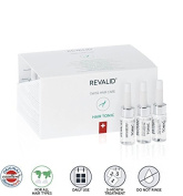 REVALID Hair tonic energising formula comprising caffeine fights follicle ageing, prevents hair loss and stimulates hair growth 20 vials x 6 ml Made in Switzerland