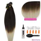 U Tip Human Hair Extensions Keratin Bonding 50 cm 0.5 in 8 different colours & sizes