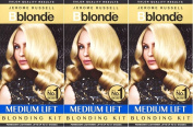 THREE PACKS of Jerome Russell B Blonde Medium Lift Blonding Kit