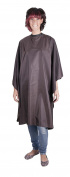Professional BROWN Sleeveless Hairdressing Gown - Water-Repellent - Adjustable Neck