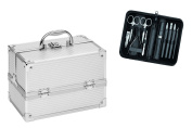 Clauss Manicure and Cosmetic Case Combi Pack, Silver