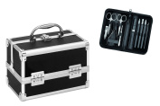 Clauss Manicure and Cosmetic Case Combi Pack, Black