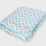 Emma & Noah Baby Blanket Extra Soft and Fluffy 100% Cotton, Size 120 x 120 cm An Ideal Baby Blanket Swaddle Pram Blanket Labels Comforter Comfort Blanket