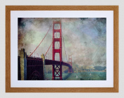 PHOTO PAINTING GOLDEN GATE BRIDGE SAN FRANCISCO 30cm x 41cm FRAMED PRINT F12X10751