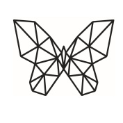 Winhappyhome Geometric Butterfly Wall Art Sticker for Bedroom Living Room Coffee Shop Background Removable Decor Decals
