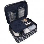 Sycotek Travel Flat Toiletry Wash Bag Large Cosmetic Bag Shaving Kit for Women and Men