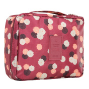 Discoball Floral Print Cosmetic Makeup Bag Travel Toiletry Organiser