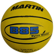 MARTIN SPORTS Junior Size 5 Rubber, Nylon Wound Basketball, Yellow