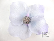 1 Light Purple Hair Flower Hair Accessories and Hair Flower Light Purple and Crystal jewellery at the heart of the flower Repositionable Mounting Cold and with Clip. 1 per order.