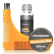 ESSENTIAL GROOMARANG COLLECTION Beard Comb , Beard Oil 30ml, Moustache Wax 15ml