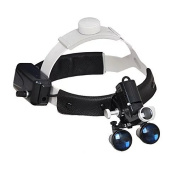 Hot Dental LED Surgical Headlight 3.5X420mm Leather Headband Loupe with Light DY-106