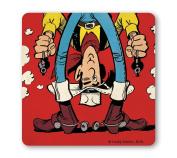 Lucky Lucke - Cowboy - Shooting Upside Down Coaster - Drink Mat - coloured - original licenced product - LOGOSHIRT