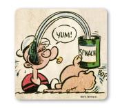 Popeye the Sailorman - Yum Coaster - Drink Mat - coloured - original licenced product - LOGOSHIRT