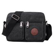 Super Modern Men Small Vintage Canvas Messenger Bag Cross body bag Pack Organiser Satchel Bag Durable Multi-pocket Sling Shoulder Bag