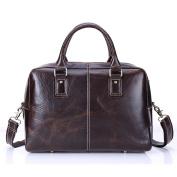 Gendi Genuine Leather Men's 40cm Laptop Bag Briefcase Handbag Messenger Shoulder Bag Business travel luggage
