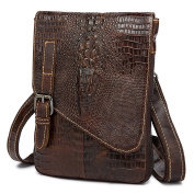 Gendi Mens Genuine Cowhide Leather Alligator Pattern Cross Body / Shoulder / Messenger bag for Kindle Ipad