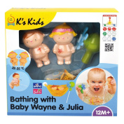 K's Kids Bathroom with Baby Wayne and Julia, Multifunctional Toy
