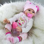 Kaydora 60cm Lifelike Reborn Baby Dolls Silicone Realistic Handmade Babies for Kids Toys