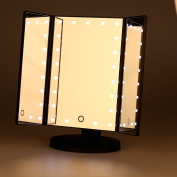 Miss Sweet Led Lighted Tabletop Mirror Trifold Makeup Mirror Vanity Mirror for Beauty Makeup