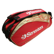 Senston Badminton/Tennis Racket Bag,Shoulders Racket Bag 8 Racquets Equipment Bag,Waterproof and Dustproof - Blue/Red/Black