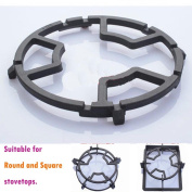 TAMUME Universal Black Cast Iron Stove Trivets for Kitchen Work Support Ring Stovetop Stand or Camping Stove Stand and Stove Rack Milk Pot Holder for Gas Hob