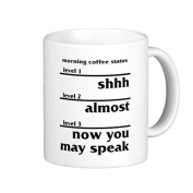 Unique Christmas Present Idea for Men and Women Morning Coffee Status Coffee Mug Gifts for Papa Husband Birthday Gifts Dad Christmas Gifts Sarcasm Mug Cup Both Sides 330ml