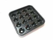 Standard Billiards Pool Ball Tray for 16 Balls, 5.7cm , Black Colour