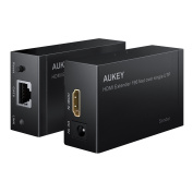 AUKEY HDMI Extender 1080P HDMI Ethernet Network Extender 60m over Single RJ45 CAT5e CAT6 Cable Supports PC / DVD / PS4 / Satellite box and more Devices