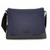 BOSS Orange Lightime_mess Flap, Men's Shoulder Bag, Blau (Navy), 36x28x12 cm