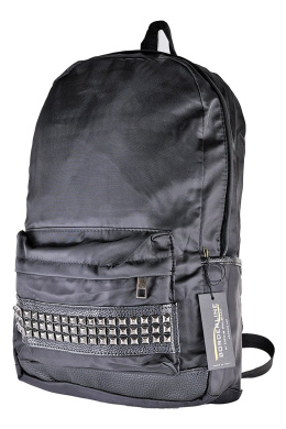 BORDERLINE - Men's backpack Fabric and Faux Leather Studded - LUCA