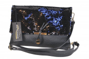 BORDERLINE - 100% Made in Italy - Clutch Genuine Leather with Sequins - NOEMI
