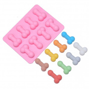 VALINK Sexy Penis Cake Mould Dick Ice Cube Tray Silicone Mould Soap Candle Moulds Sugar Craft Baking Tools Chocolate Moulds Bakeware - 18.6 x 14.3 x 1.8cm
