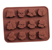 Silicone Cake Mould Owls Shapes Chocolate Cookies Candy Baking Mould DIY