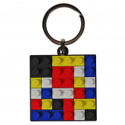 Brick toy Keyring. Classic toy PVC Key ring