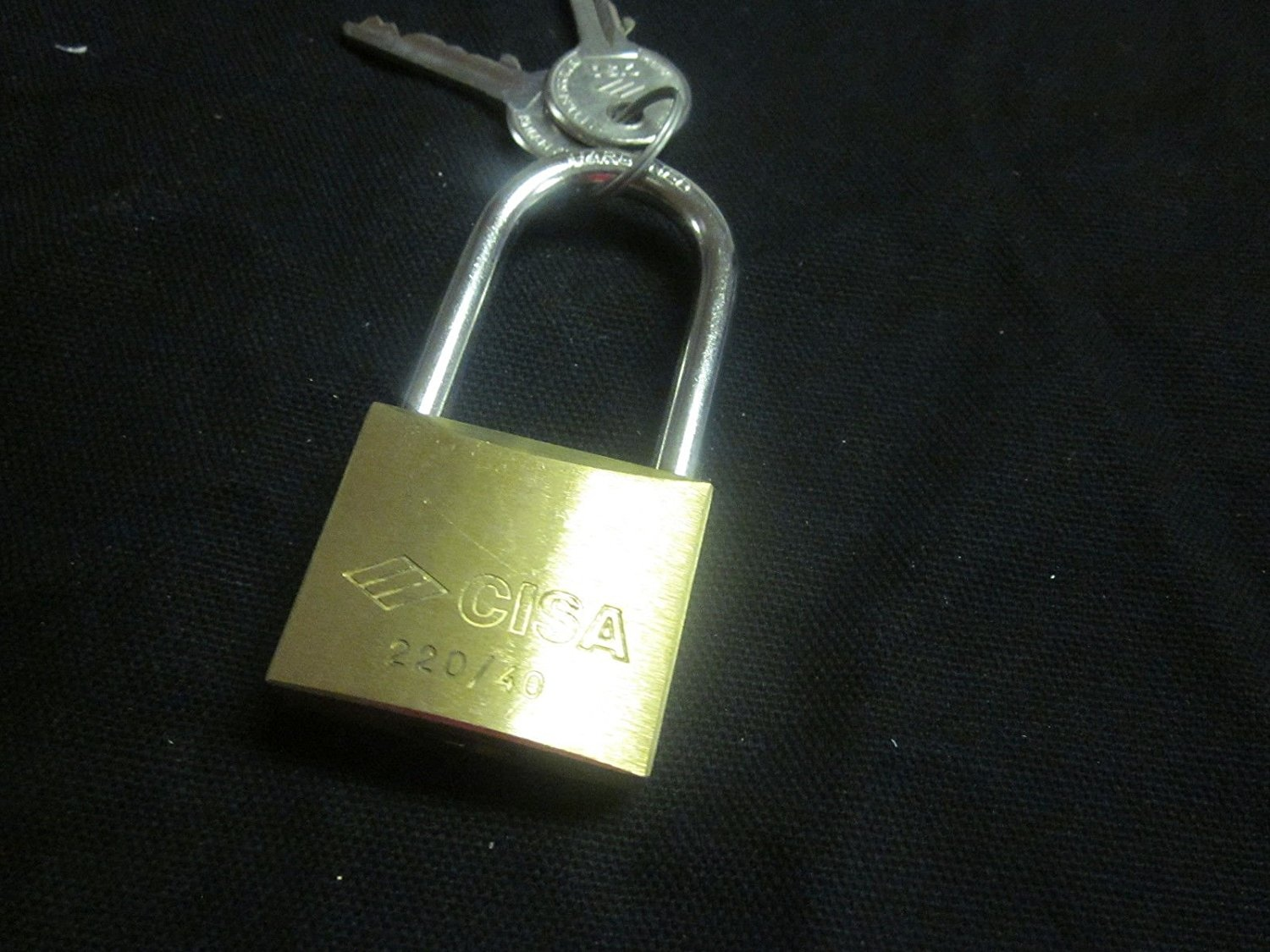 22011-40-PADLOCK-CISA-SOLID-BRASS-LOCK-220-40-MADE-IN-ITALY-LONG-SHACKLE