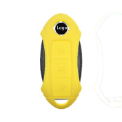 Tuqiang Key Fob for fits Nissan Qashqai 1pc Yellow 3 Buttons Silicone Key Cover Car case cover