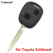 Tuqiang® 1pc 2 Button Blank Key Straight for Toyota Key Cover/Key Plastic