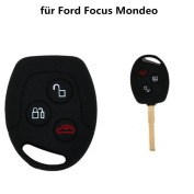 Tuqiang® for Ford Focus Mondeo 1pc Black 3 Buttons Silicone Key Key Cover