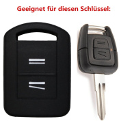 Tuqiang® Vauxhall Corsa 1pc Black 2 Buttons Car Key Key Cover
