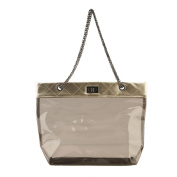 Womens Transparent Shoulder Bag Handbag Tote PU Leather Chain Lady Messenger Bags Candy Colour[Gold]