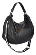 Genuine Soft Leather Shoulder Bag (Hobo), ca. 37x27x14cm, Made in Italy by Toni & Friends