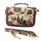 Victoria Tapestry - Nina Satchel Handbag and convertible Shoulder Bag - Boutique