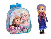 "DIESNEY : Set of 1 Backpack children´s FROZEN SOUL 28 CM and Anna From Frozen 15.7"" 40CM"