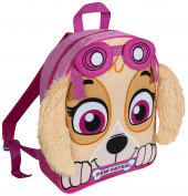 Paw Patrol Skye Plush Fleece Front Backpack With Ears Kids' School Bag Rucksack