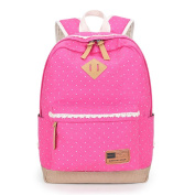 Tolooggo Girls Rucksack Canvas Backpack Casual Daypack for School College Uni with Laptop Compartment